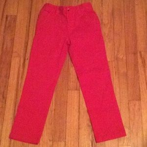Other - Red pants with elastic belt inside.